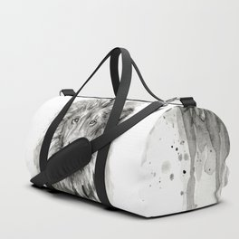 Lion Watercolor Duffle Bag