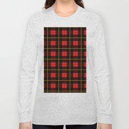 Minimalist Wallace Hunting Tartan Red Long Sleeve T-shirt