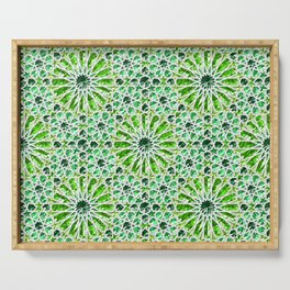Geometric gemstones (emerald) Serving Tray