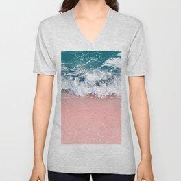 Ocean Beauty Dream - Crashing Waves #1 #wall #decor #art #society6 Unisex V-Neck