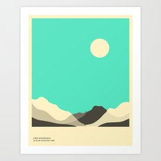 GLACIER NATIONAL PARK, LAKE MCDONALD Art Print