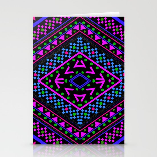 NEON PATTERN Stationery Cards