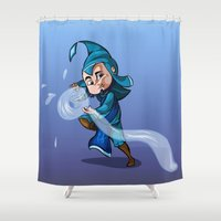bender Shower Curtains featuring Water Bender by MDDesigns