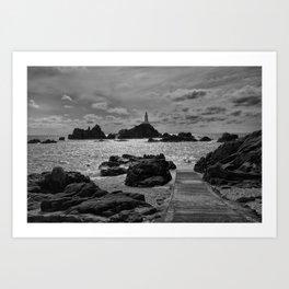 La Corbiere Lighthouse  Art Print