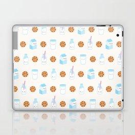Milk and Cookies Pattern on Cream Laptop & iPad Skin