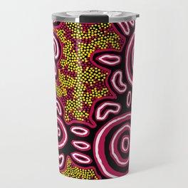 U Belong - Authentic Aboriginal Art Travel Mug
