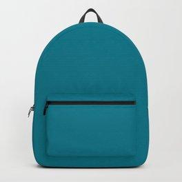 Teal Solid Backpack
