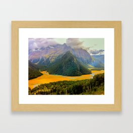 Routeburn Trek 2, New Zealand Framed Art Print
