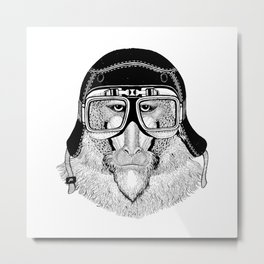 Monkey Speed Rebel Metal Print