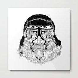 Monkey Speed Rebel Metal Print