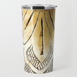 Engraving gold copper arabic art Travel Mug