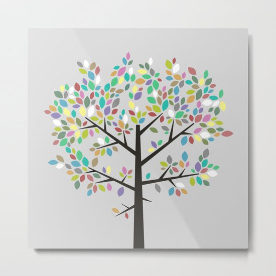 Tree Graphic 2 Colorful Metal Print