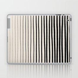 Black Vertical Lines Laptop & iPad Skin