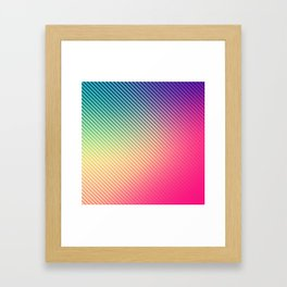 Colorfully Patterned Framed Art Print