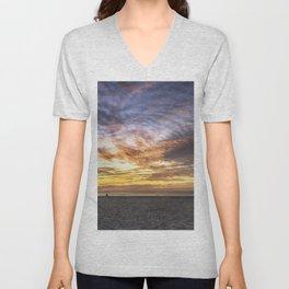 Good Harbor Beach Sunrise Unisex V-Neck