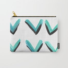 Bright teal arrows Carry-All Pouch