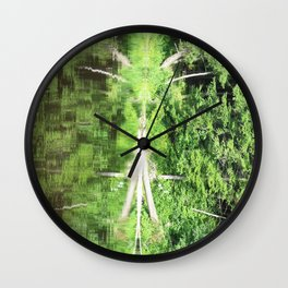 With arms Outstretched Wall Clock