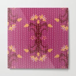 Kantha bouquet 5 Metal Print