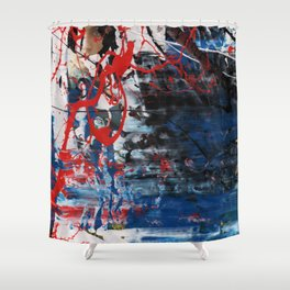 Red Blue 003 Shower Curtain