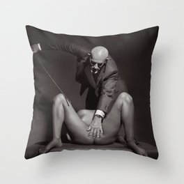 The Cane - Nude woman whipped Throw Pillow