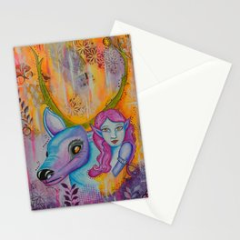 Lighten Up - Gold Lotus Oracle Stationery Cards