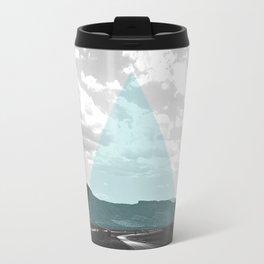 Geo Trip Cyan Travel Mug