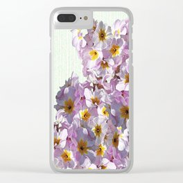 In the land of green and pink Clear iPhone Case