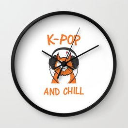K-POP And Chill Wall Clock