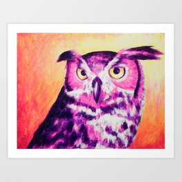 Owl Creep You Out  Art Print