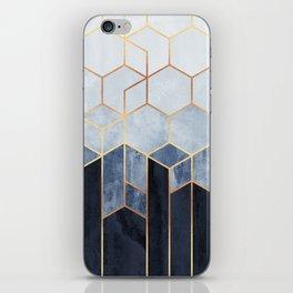 Soft Blue Hexagons iPhone Skin