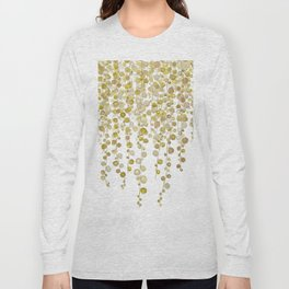 golden string of pearls watercolor 2 Long Sleeve T-shirt