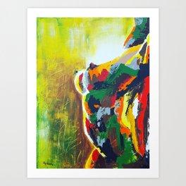 """Tree and Flower"" Art Print"