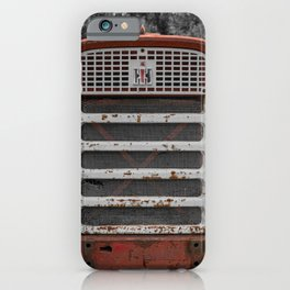 International Farmall 560 Grill Rusty Red Tractor iPhone Case