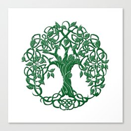 Tree of life green Canvas Print