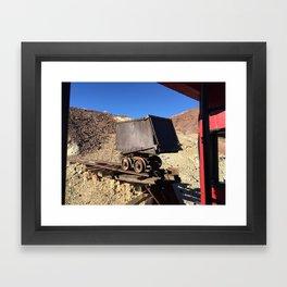 Mining Rail Car at Calico California's Ghost Town Framed Art Print