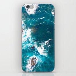 Aerial Turquoise sea, ocean, coast, Atlantic, Portugal, beach, waves, sea, prints, project iPhone Skin