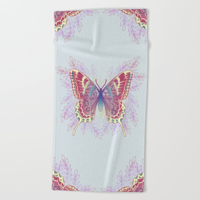 Beautiful Colorful Butterfly Design Beach Towel