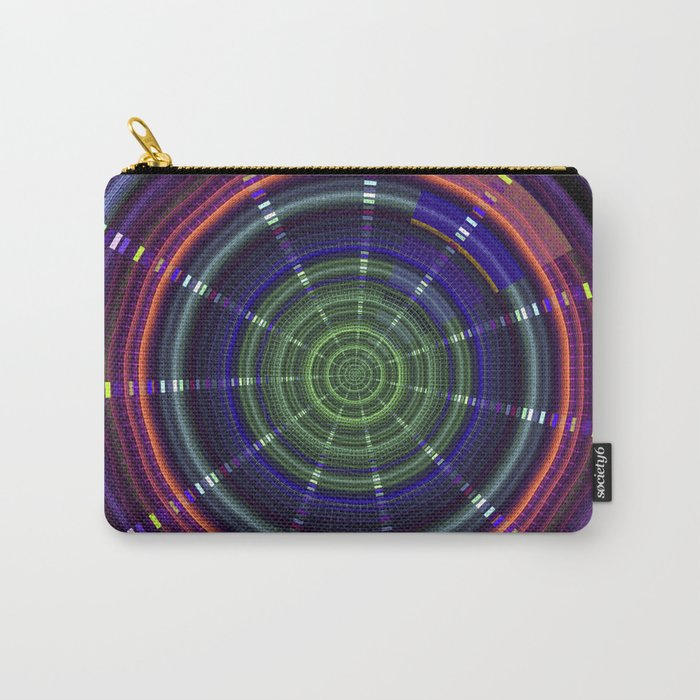 Dynamic mandala with tribal patetrns Carry-All Pouch