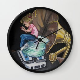 Evolution of Music Girl Wall Clock