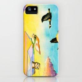 Herbert the Owl Considers Parachutes iPhone Case