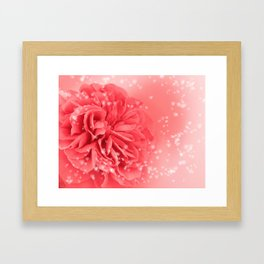 A Touch of Love - Pink Rose with Hearts #1 #art #society6 Framed Art Print