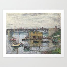Bridge at Argenteuil on a Gray Day Art Print
