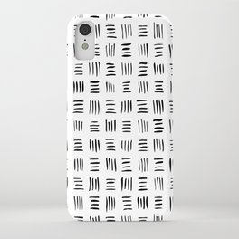 Lines on Lines // Black iPhone Case