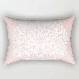 Mandala Mermaid Sea Pink by Nature Magick Rectangular Pillow