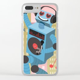 Robot DJ Clear iPhone Case