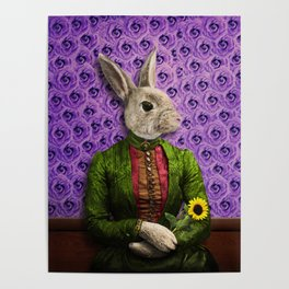Miss Bunny Lapin in Repose Poster