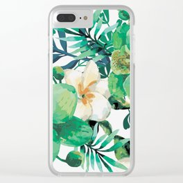 Wotercolored spring flowers Clear iPhone Case