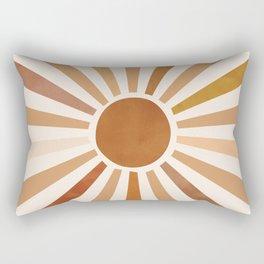 Fall Color Sun Rectangular Pillow