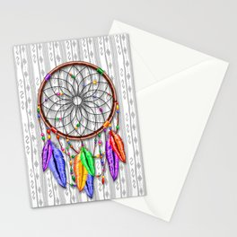Dreamcatcher Rainbow Feathers Stationery Cards