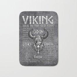 Viking Mythology Design Hail To The Old Gods Bath Mat